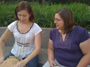 With April at Drumbone, African Drumming at Hamline University