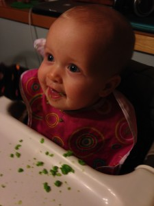 Playing with peas (not eating them)