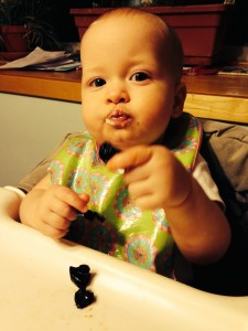 Ella pinches EVERYTHING!  even prunes!  (though this was the night that she came down with the stomach flu.  Hasn't liked prunes since...)
