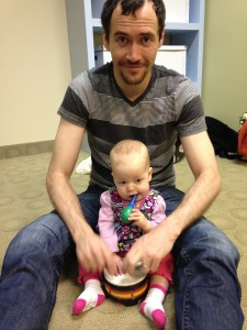 Ella Mae and daddy at music class!