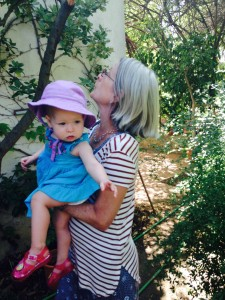 In Nimes with GrandMartha- she's showing her how to garden