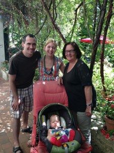 Our family with Helen, such a wonderful friend!
